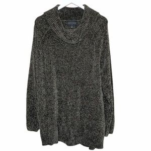 Stitch Fix Absolutely Chenille Olive Cowl sweater